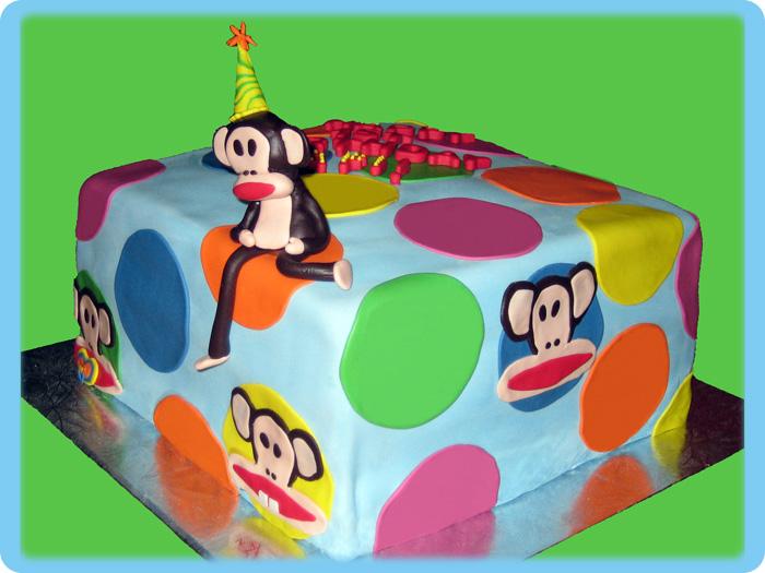 Paul Frank Julius Inspired Birthday Cake